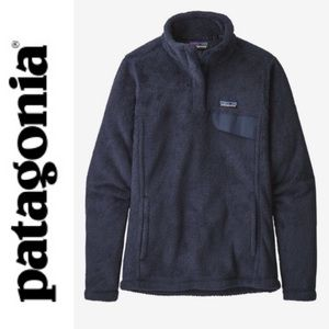 NWT Patagonia Re-Tool Snap-T Navy Pullover